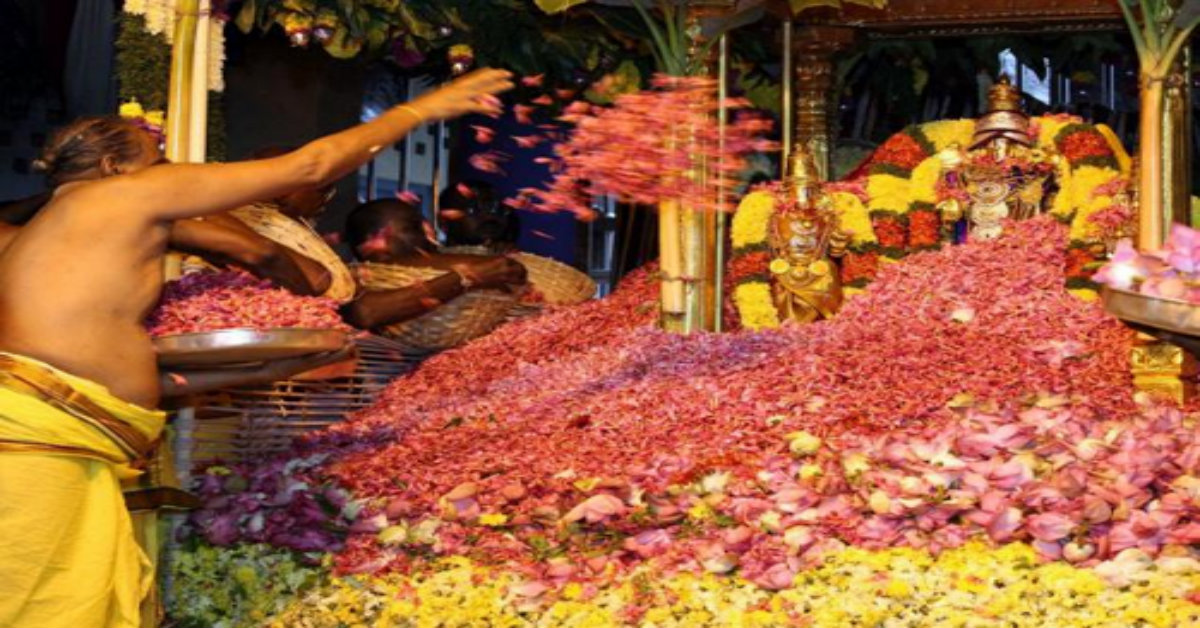 Why is a specific flower offered for gods pooja