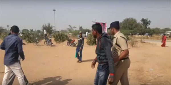 Suicide attempt of Nerella affected people in KCR Asheervada Sabha